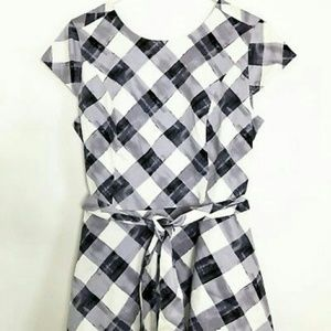 Isaac Mizrahi Gingham Flare Dress
